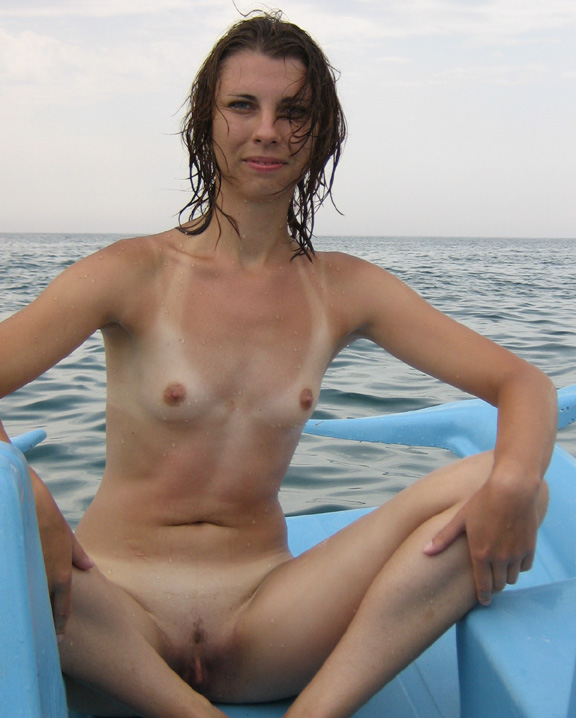 nudist with legs open