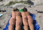 Young nudists tanning their voluptuous asses