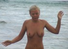 Naked maiden hates the cold water