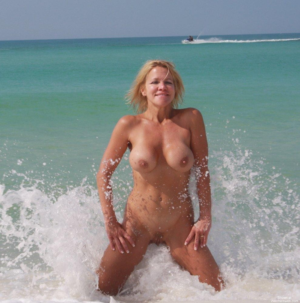 naked boobs on beach