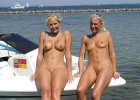 Two perfect blond wives with perfect tits