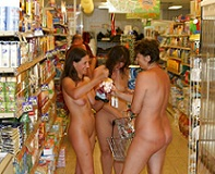 Nudist Shopping Girls
